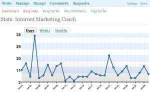 Internet marketing coach traffic stats
