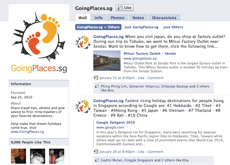 Going Places Fan Page